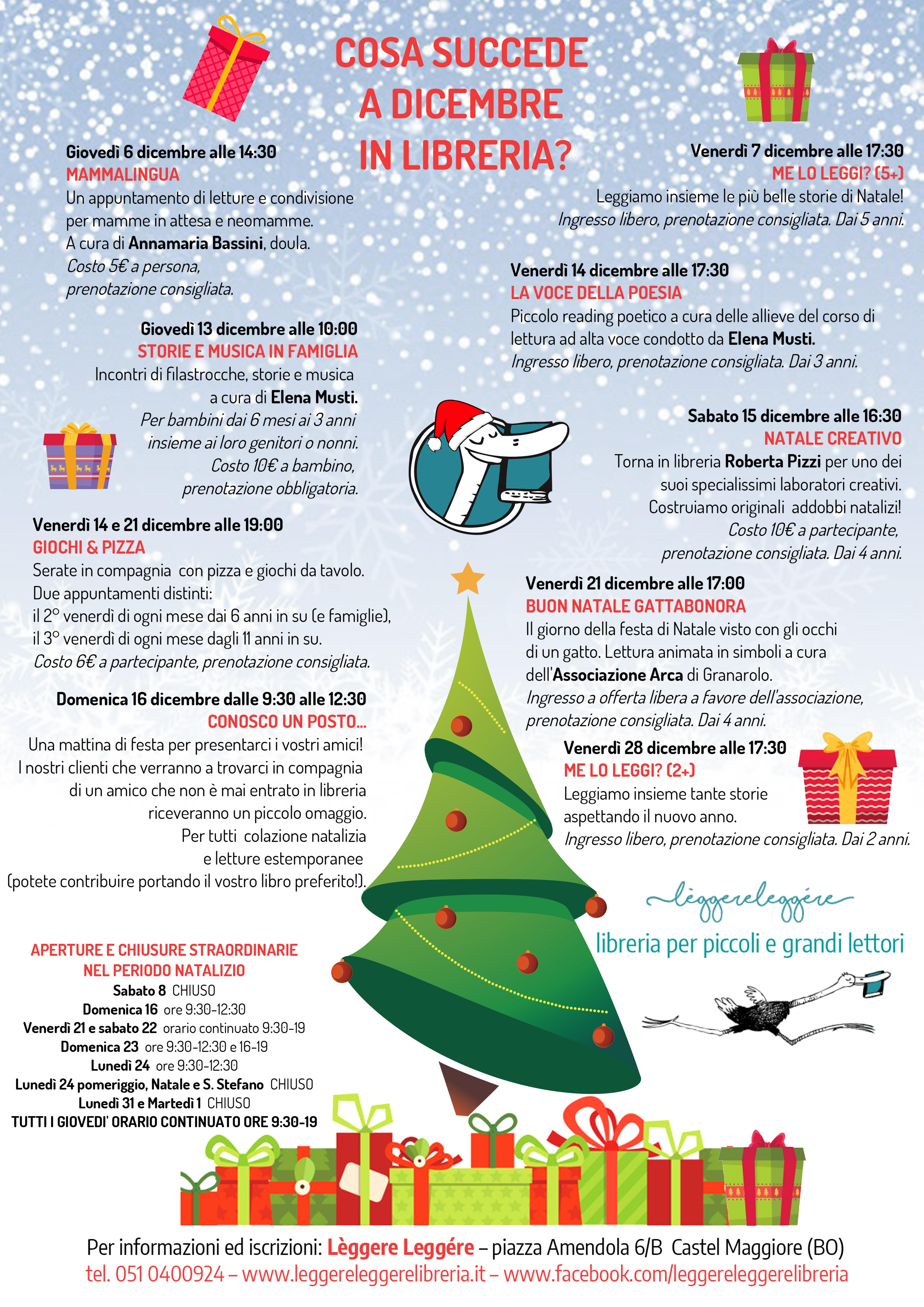 Poesie Di Natale 5 Anni.Cosa Succede A Dicembre In Libreria Leggere Leggere